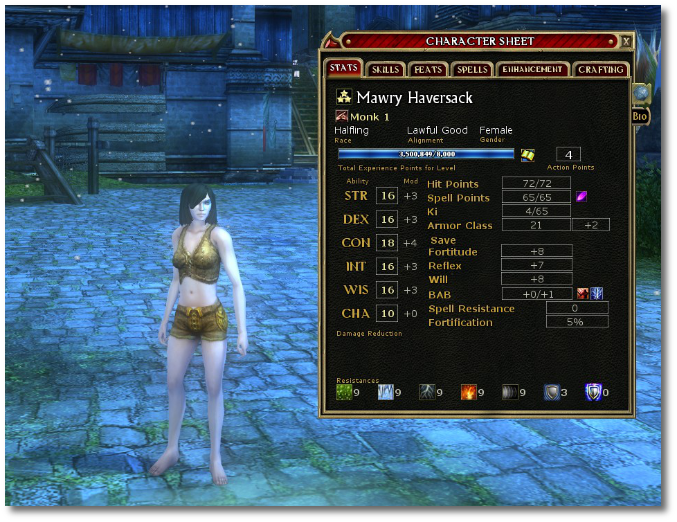 3.5 million XP, and all while still in her skivvies